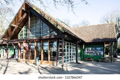SWINDON, UK - FEBRUARY 12, 2019: The Cafe at Lydiard Park  Swindon, Wiltshire, UK