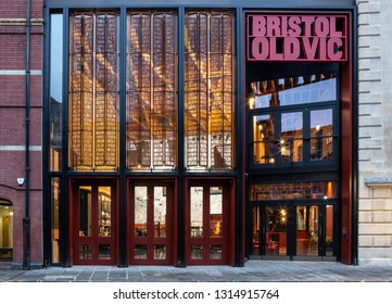 SWINDON, UK - FEBRUARY 16, 2019: The Bristol Old Vic Theatre King Street Bristol