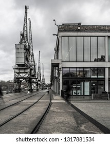 SWINDON, UK - FEBRUARY 16, 2019: The M Shed museum of Bristol Life at Wapping Whalf, Bristol, UK