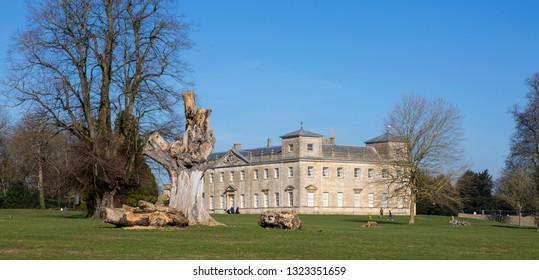 SWINDON, UK - FEBRUARY 24, 2019: Lydiard House, Lydiard Park  Swindon, Wiltshire, UK