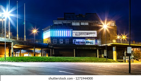 SWINDON, UK - JANUARY 1, 2019: The Wyvern Theatre and Arts Centre in Swindon