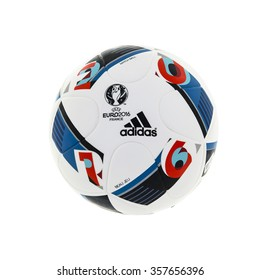 SWINDON, UK - JANUARY 2, 2016: Adidas BEAU JEU official Match Ball for the UEFA EURO 2016 football tournament in France