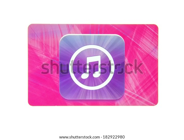 SWINDON, UK - MARCH 20, 2014: Apple iTunes card on a white background
