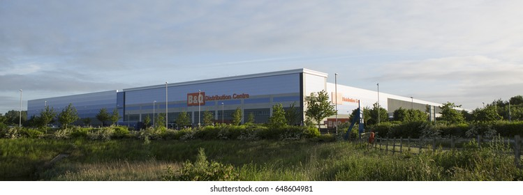 Swindon, UK - MAY 1, 2017: B&Q distribution centre G Park industrial estate, Swindon, England, UK