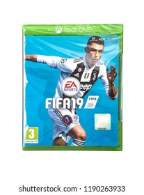 SWINDON, UK - SEPTEMBER 28, 2018: FIFA 2019 by EA Sports for the XBOX One console