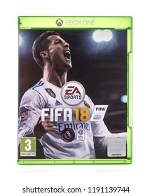 SWINDON, UK - SEPTEMBER 28, 2018: FIFA 2018 by EA Sports for the XBox one console