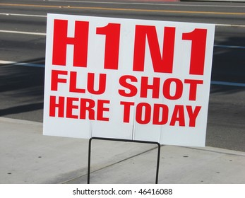 swine h1n1 flu shot sign