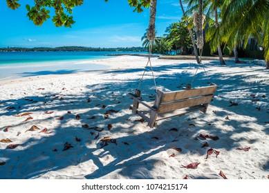 Swing in beautiful tropical island beach - Koh Kham, Trat Thailand