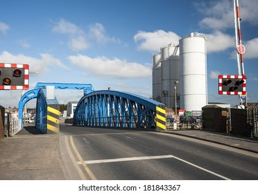 Swing bridge on the approaches to the docks area of Goole in East Yorkshire