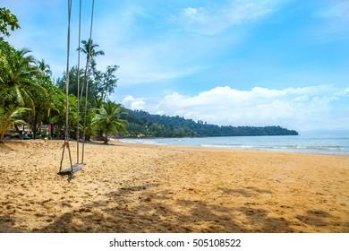Swing on the beach,khao lak phang nga thailand - Shutterstock ID 505108522