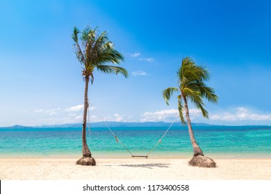 Swing on Koh Samui island, Thailand in a summer day
