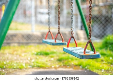 Swing seat in the park