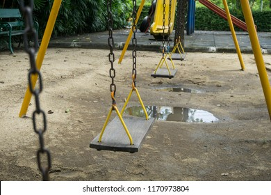 Swing and stagnant water.