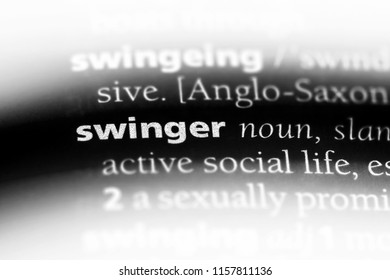 swinger word in a dictionary. swinger concept.