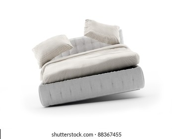 swinging Bed on white with soft shadow