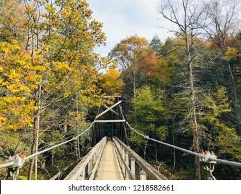 Swinging Bridge over Toccoa River