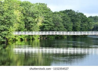 Swinging Bridge at Skowhegan Maine USA