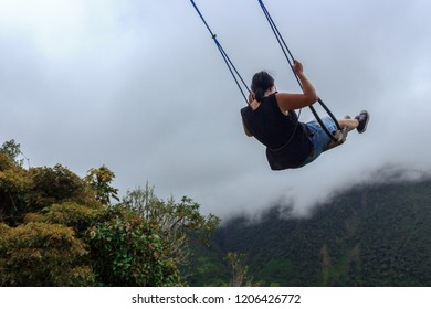 Swinging over the end of the world, ecuador