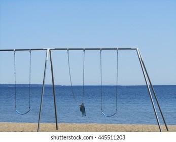 Swings at the beach