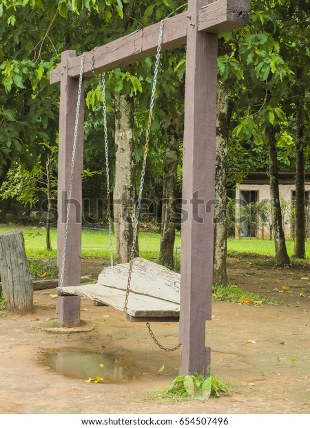 Swings Trees Stock Photo Edit Now 654507496