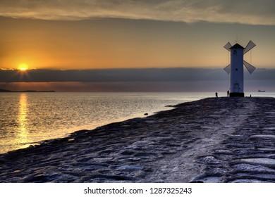 Swinoujscie in Poland. Lighthouse