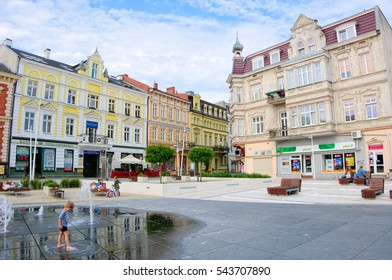 SWINOUJSCIE, POLAND - MAY 29, 2016: Plac Wolnosci (Liberty Square), Swinoujscie is a city and seaport on the Baltic Sea