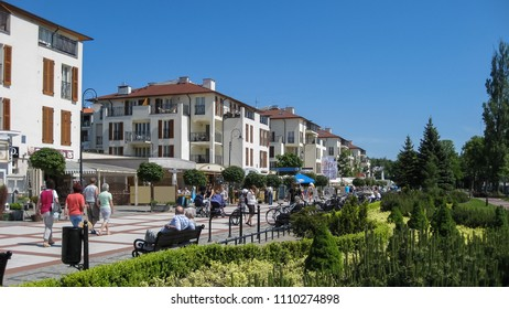 Swinoujscie, West Pomeranian, Poland - May 26, 2014: Seaside Promenade - a boulevard, stretching from the Polish-German border along the spa district.