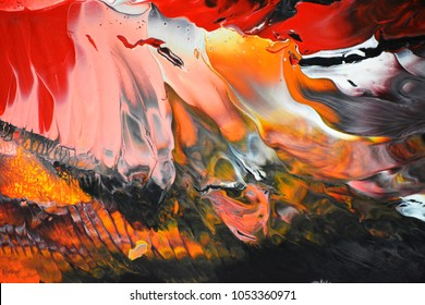 Swirl color ripple movement Luxury background in red yellow black white like marbling lava art
