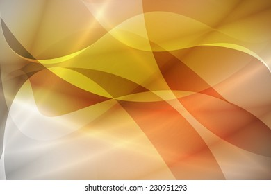 swirl curve on orange abstract background