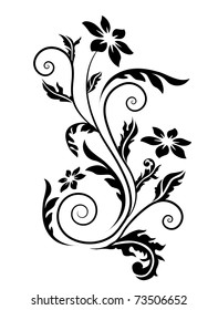 Swirl floral element.Raster version. Vector version is in my gallery.