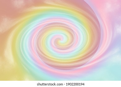 Swirl vortex Pastel tie die rainbow background with soft colorful swirl. illustration for your graphic design.