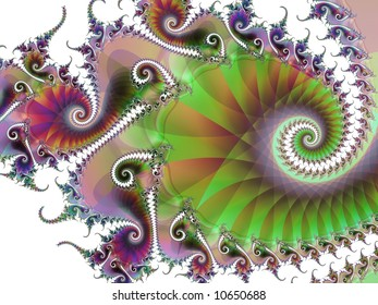 A swirling abstract fractal.
