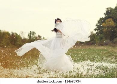 swirling bride