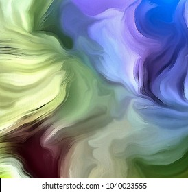 Swirling Pastel Colors Abstract. 3D rendering