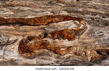 Swirling stone patterns