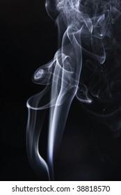 swirls and art-magic smoke pollution skywriting