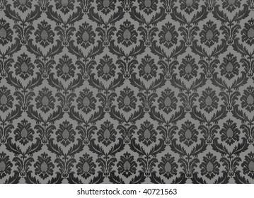 Swirly floral retro wallpaper
