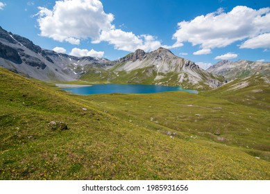 Swiss Alp Lake Val Müstair - Shutterstock ID 1985931656