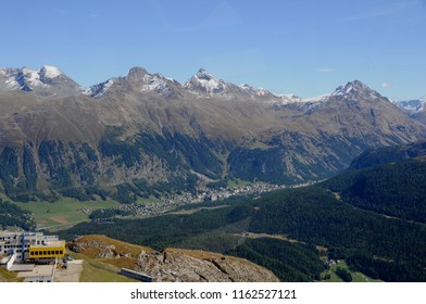 Swiss Alps: Due to the global climate change the glaciers and the permafrost are melting like here in the upper Engadin