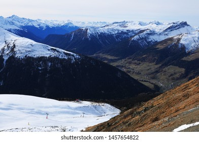 Swiss Alps: Due to the global climate change and the melting permafrost in wintertime there is more often less or very little snow.