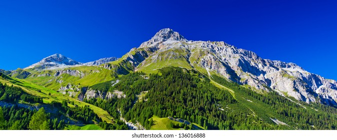 Swiss Alps mountains summer panorama.