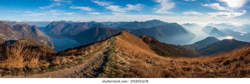Swiss Alps Panorama Ticino Monte Boglia - Shutterstock ID 1918331678