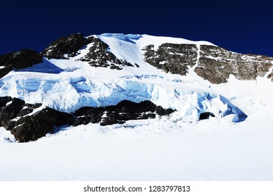 "Swiss Alps: The peak of the ""Eiger"" on the south side in the Bernese Oberland. Due to the global climate change the glaciers and permafrost are melting"