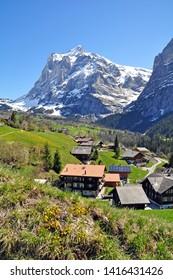 swiss alps Peak near Grindelwald,switzerland