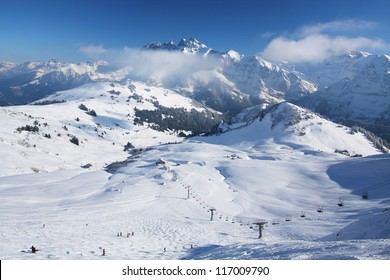 The Swiss Alps ski resort of Les Crosets