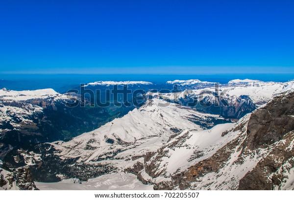 Swiss Alps, The Snow Mountain range of Switzerland.