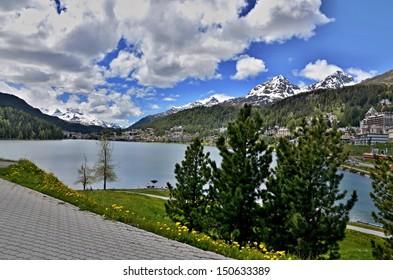 Swiss Alps-lake St. Moritz