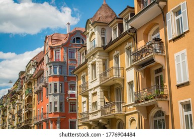 Swiss Architecture Tall Houses with Balconies