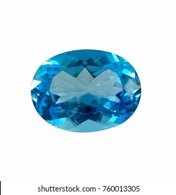 Swiss Blue Topaz Gemstone Oval shaped