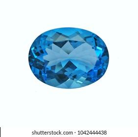 swiss blue topaz natural gemstone
